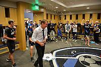 San Jose, CA - Sunday October 22, 2017: San Jose Earthquakes, Chris Leitch after a Major League Soccer (MLS) match between the San Jose Earthquakes and Minnesota United at Avaya Stadium.