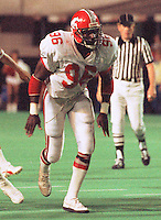 Anthony Woodson Calgary Stampeders 1986. Photo F. Scott Grant