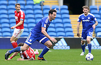 Sean Morrison of Cardiff City moves forward during the Sky Bet Championship match between Cardiff City and Nottingham Forest at the Cardiff City Stadium, Cardiff, Wales, UK. 17 April 2017