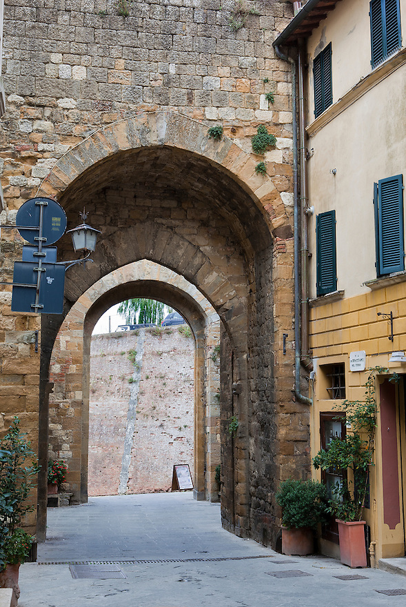 """""""Porta al Prato""""<br /> Montepulciano, Italy<br /> 2015<br /> <br /> One of the primary gates into the town of Montepulciano is Porta al Prato, a very impressive structure built to protect the medieval town."""