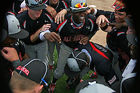 August 8, 2009:  Baseball Factory celebrates after winning the Under Armour All-America game at Wrigley Field in Chicago, IL.  Photo By Mike Janes/Four Seam Images