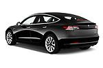 Car pictures of rear three quarter view of a 2018 Tesla Model 3 Long Range 4 Door Sedan angular rear