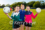 Churchill juvenile ladies doing their training in Churchill on Friday, l to r: Clara O'Dowd, Grace Hamilton and Aoife O'Brien.