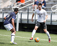 The UNC Greensboro Spartans played the University of South Carolina Gamecocks in The Manchester Cup on April 5, 2014.  The teams played to a 0-0 tie.  Jeffrey Torda (9), Quin Lema (16)