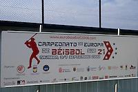 BASEBALL - EUROPEAN UNDER -21 CHAMPIONSHIP - PAMPELUNE (ESP) - 03 TO 07/09/2008 - PHOTO : CHRISTOPHE ELISE .CZECH REPUBLIC VS SPAIN (WINNER 6-2) - LOGO EUROBASEBALL 2008