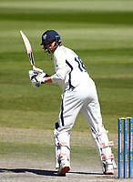 30th May 2021; Emirates Old Trafford, Manchester, Lancashire, England; County Championship Cricket, Lancashire versus Yorkshire, Day 4; George Hillof Yorkshire clips a shot down the leg side