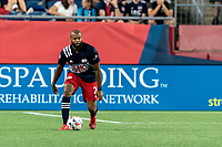 FOXBOROUGH, MA - JULY 7: Andrew Farrell #2 of New England Revolution looks to pass during a game between Toronto FC and New England Revolution at Gillette Stadium on July 7, 2021 in Foxborough, Massachusetts.