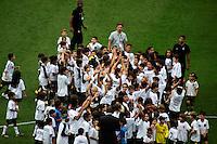 SAO PAULO, SP, 04 DE DEZEMBRO DE 2011 - CAMP. BRASILEIRO - CORINTHIANS X PALMEIRAS - Jogadores do Corinthians durante partida contra o Palmeiras pela ultima rodada do Campeonato Brasileiro, Estadio Paulo Machado de Carvalho (Pacaembu), neste domingo, 04. (FOTO: WILLIAM VOLCOV - NEWS FREE).