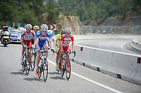 Frederik Backaert (BEL/Wanty-Groupe Gobert) & Adam Phelan (AUS/Drapac) among the 5 riders breakaway (for the day)<br /> <br /> Tour of Turkey 2014<br /> stage 4