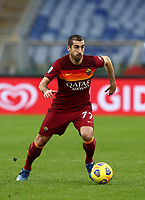 Football, Serie A: AS Roma -  FC Internazionale Milano, Olympic stadium, Rome, January 10, 2021. <br /> Roma's Henrikh Mkhitaryan in action during the Italian Serie A football match between Roma and Inter at Rome's Olympic stadium, on January 10, 2021.  <br /> UPDATE IMAGES PRESS/Isabella Bonotto