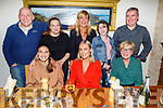 Double celebrations in Bella Bia on Saturday night for Alison Moriarty and Sarah Foale from Tralee. <br /> Front l to r: Alison Moriarty (13), Sarah Foale (24) and Anita Moriarty.<br /> Back l to r: Kevin Foale, Sinead, Karen, Isabelle and John Moriarty.