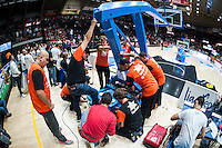 VALENCIA, SPAIN - OCTOBER 31:  during ENDESA LEAGUE match between Valencia Basket Club and Rio Natura Monbus Obradoiro at Fonteta Stadium on   October 31, 2015 in Valencia, Spain