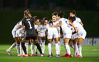 31st August 2021; Estadio Afredo Di Stefano, Madrid, Spain; Women's Champions League, Real Madrid CF versus Manchester City Football Club; Real Madrid team huddle pre-game