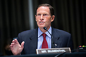 "United States Senator Richard Blumenthal (Democrat of Connecticut), speaks during the Senate Judiciary Committee hearing titled ""Examining Best Practices for Incarceration and Detention During COVID-19,"" in Dirksen Building in Washington, D.C. on Tuesday, June 2, 2020.<br /> Credit: Tom Williams / Pool via CNP"