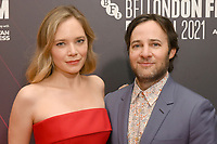 """Caitlin Mehner and Danny Strong attend the European premiere of """"Dopesick"""" at The Mayfair Hotel during the 65th BFI London Film Festival in London. OCTOBER 13th 2021<br /> <br /> REF: SLI 21561 .<br /> Credit: Matrix/MediaPunch **FOR USA ONLY**"""