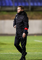 Assistant trainer of Woluwe pictured after the warm up before a female soccer game between FC Femina White Star Woluwe and Club Brugge YLA on the eleventh matchday of the 2020 - 2021 season of Belgian Scooore Womens Super League , Friday 22 January 2021  in Woluwe , Belgium . PHOTO SPORTPIX.BE   SPP   SEVIL OKTEM
