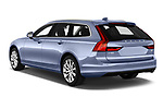 Car pictures of rear three quarter view of a 2019 Volvo V90 Momentum 5 Door Wagon angular rear