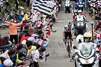 Marc Hirschi (SUI/Sunweb) is the first rider atop the Col de Marie Blanque (1st Cat)<br /> <br /> Stage 9 from Pau to Laruns (153km)<br /> <br /> 107th Tour de France 2020 (2.UWT)<br /> (the 'postponed edition' held in september)<br /> <br /> ©kramon
