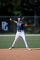 Andrew Roberts during the WWBA World Championship at the Roger Dean Complex on October 20, 2018 in Jupiter, Florida.  Andrew Roberts is a third baseman / right handed pitcher from Altamonte Springs, Florida who attends Trinity Preparatory School and is committed to Florida.  (Mike Janes/Four Seam Images)