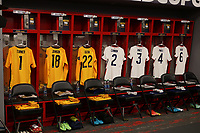 LAS VEGAS, NV - AUGUST 1: USMNT Lockeroom before a game between Mexico and USMNT at Allegiant Stadium on August 1, 2021 in Las Vegas, Nevada.