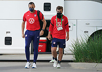 HOUSTON, TX - JUNE 13: The USWNT and head coach Vlatko Andonovski arrive at the stadium before a game between Jamaica and USWNT at BBVA Stadium on June 13, 2021 in Houston, Texas.