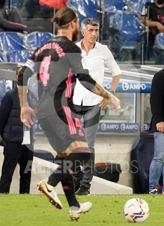 Real Sociedad's coach Imanol Alguacil during La Liga match. September 20, 2020. (ALTERPHOTOS/Acero)