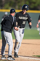 March 13, 2010:  First Baseman Kevin McKague of Army vs. Long Island University Blackbirds in a game at Henley Field in Lakeland, FL.  Photo By Mike Janes/Four Seam Images