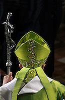 Pope Benedict XVI waves as he leaves a holy mass in St. Stephens Cathedral in Vienna on September 9, 2007. Pope Benedict urged Catholics to keep Sunday a special day for God and rest and make it a time to reflect on the need to protect God's endangered creation.