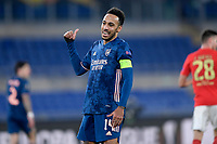 18th February 2021, Rome, Italy;   Pierre-Emerick Aubameyang of Arsenal FC during the UEFA Europa League round of 32 Leg 1 match between SL Benfica and Arsenal at Stadio Olimpico, Rome, Italy on 18 February 2021.