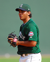 3 September 2007: Joseph Guerra of the Greenville Drive, Class A South Atlantic League affiliate of the Boston Red Sox, in a game against the Asheville Tourists at West End Field in Greenville, S.C. Photo by:  Tom Priddy/Four Seam Images