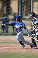 Los Angeles Dodgers outfielder Michael Medina (70) during an Instructional League game against the Chicago White Sox on October 8, 2013 at Camelback Ranch Complex in Glendale, Arizona.  (Mike Janes/Four Seam Images)
