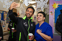 Pictured: Wayne Routledge of Swansea City at Morriston Hospital, Swansea, Wales, UK. Thursday 19 December 2019