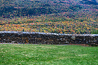 Autumn view from the Hildene estate, Manchester, Vermont, USA.