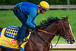 Bodemeister, trained by Bob Baffert and to be ridden by Mike Smith, works out in preparation for the 138th Kentucky Derby at Churchill Downs in Louisville, Kentucky on May 3, 2012