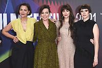 Maggie Gyllenhaal, Olivia Colman, Dakota Johnson und Jessie Buckley bei der Premiere des Kinofilms 'The Lost Daughter' auf dem 65. BFI London Film Festival 2021 in der Royal Festival Hall. London, 13.10.2021 . Credit: Action Press/MediaPunch **FOR USA ONLY**