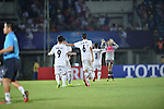 Thailand vs Myanmar during the 2014 AFC U19 Mens Championship group A match on October 11, 2014 at the Thuwunna Stadium, in Yangon, Myanmar. Photo by World Sport Group