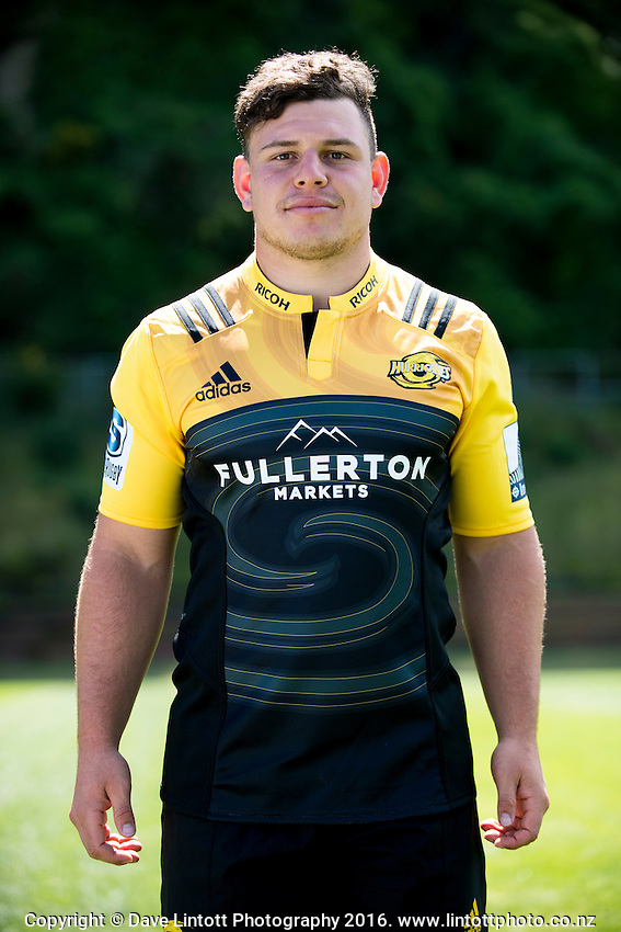 Ricky Riccatelli. 2017 Hurricanes Super Rugby headshot at Rugby League Park in Wellington, New Zealand on Wednesday, 14 December 2016. Photo: Dave Lintott / lintottphoto.co.nz
