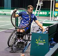Rotterdam, The Netherlands, 6 march  2021, ABNAMRO World Tennis Tournament, Ahoy,  Semi final wheelchair:  Joachim Gerard (BEL). Photo: www.tennisimages.com