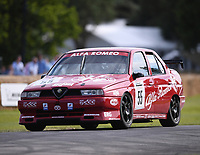 9th July 2021;  Goodwood  House, Chichester, England; Goodwood Festival of Speed; Day Two; Tom Andrew drives an Alfa Romeo 155 in the Goodwood Hill Climb