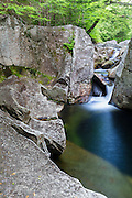 Lost River in Kinsman Notch of Woodstock, New Hampshire during the summer months.