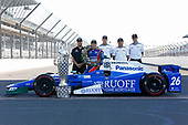 Verizon IndyCar Series<br /> Indianapolis 500 Winner Portrait<br /> Indianapolis Motor Speedway, Indianapolis, IN USA<br /> Monday 29 May 2017<br /> Takuma Soto poses for the 500 winner photos<br /> World Copyright: Phillip Abbott<br /> LAT Images<br /> ref: Digital Image abbott_indyD_0517_35365