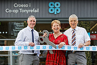 (L-R) Store manager Wayne Tyler with Dawn Parkin and Peter Butcher of Trusle Road Bank both from New Life Community Church