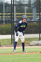Nic Frink (9) of Scarborough, Maine during the Baseball Factory All-America Pre-Season Rookie Tournament, powered by Under Armour, on January 13, 2018 at Lake Myrtle Sports Complex in Auburndale, Florida.  (Michael Johnson/Four Seam Images)