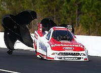Mar 16, 2014; Gainesville, FL, USA; NHRA funny car driver Bob Tasca III during the Gatornationals at Gainesville Raceway Mandatory Credit: Mark J. Rebilas-USA TODAY Sports
