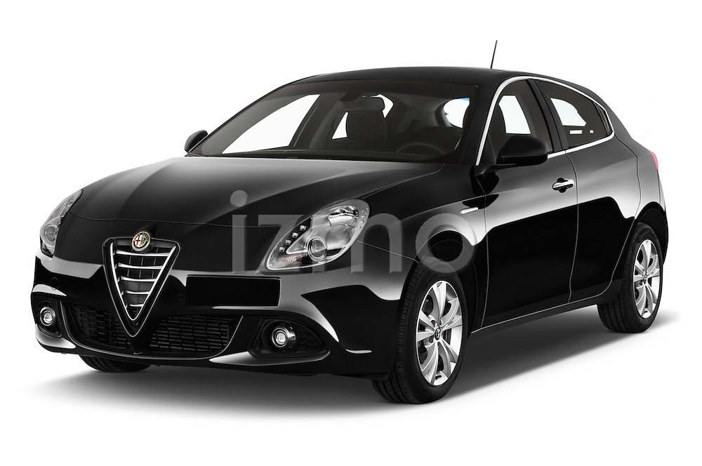 2015 Alfa Romeo Giulietta Distictive 5 Door SUV angular front stock photos of front three quarter view