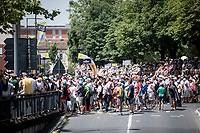 start podium crowd at the race start in Albi<br /> <br /> Stage 11: Albi to Toulouse (167km)<br /> 106th Tour de France 2019 (2.UWT)<br /> <br /> ©kramon