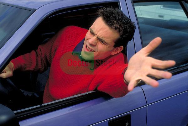 man exhibiting road rage