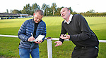 Pix Magi Haroun 26.08.2020<br /> <br /> REPORTER: Gideon Brooks:<br /> Pix shows the first crowd of 150 fans let in to watch Daisy Hill FC v Bury FC. Also Chairman of Bury Chris Murray enjoying his 1st match as Chairman and being interviewed by Gideon