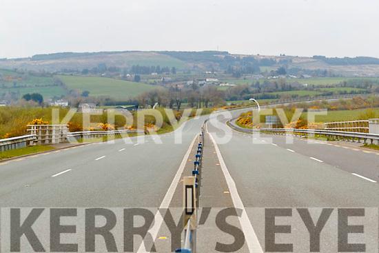 Empty Castleisland to Abbeyfeale road on Friday.