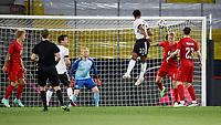 2nd June 2021, Tivoli Stadion, Innsbruck, Austria; International football friendy, Germany versus Denmark;  Serge Gnabry Germany  with the header goal chanc